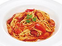 ソーセージのトマトスパゲティ