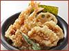 鶏海老天丼