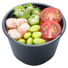 夏野菜たっぷり冷静茶碗蒸し